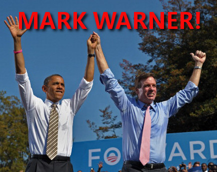 Barack Obama and top supporter Mark Warner