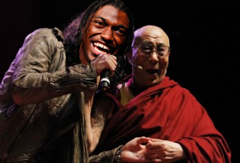 Robert Griffin III and Dalai Lama