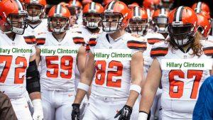 Cleveland Hillary Clintons Football