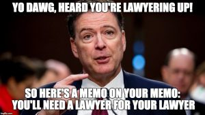 Comey lawyer up